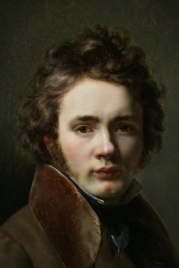 C19th portrait of young man.