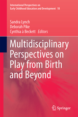 Book cover, red. Text: Multidisciplinary Perspectives on Play