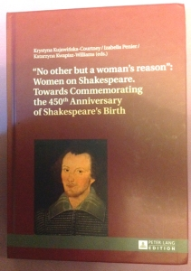 Book cover showing the Sanders Portrait of Shakespeare.