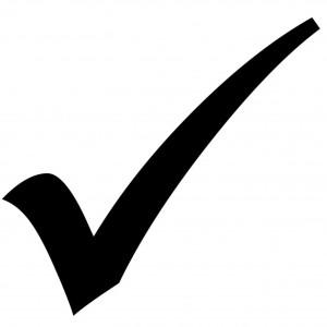 black tick mark